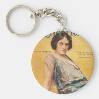 Pauline Frederick movie magazine cover Keychain