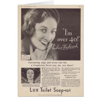 Pauline Frederick Soap Advertisement Card