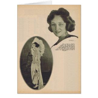 Pauline Frederick vintage portrait 1922 Card