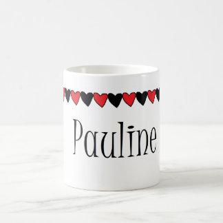 Pauline Hearts Name Mug