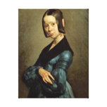 Pauline Ono  in Blue, 1841-42 Gallery Wrap Canvas