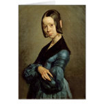 Pauline Ono  in Blue, 1841-42 Greeting Card