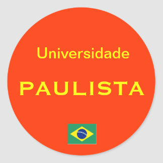 Paulista University* Euro-style Round Sticker