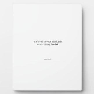 Paulo Coelho Quote Plaque