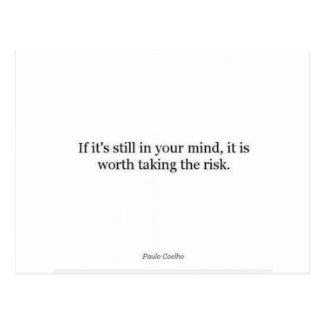 Paulo Coelho Quote Postcard