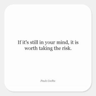 Paulo Coelho Quote Square Sticker