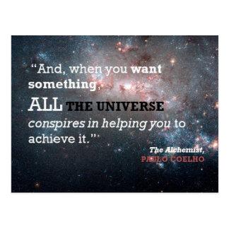Paulo Coelho The Alchemist Quote, All the Universe Postcard