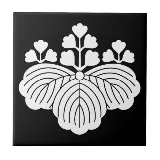 Paulownia with 5&3 blooms ceramic tile