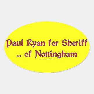 PaulRyanSheriff Oval Sticker