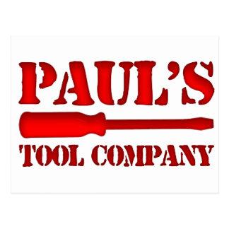 Paul's Tool Company Postcard