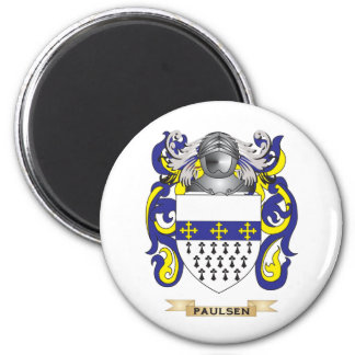 Paulsen Coat of Arms (Family Crest) 2 Inch Round Magnet