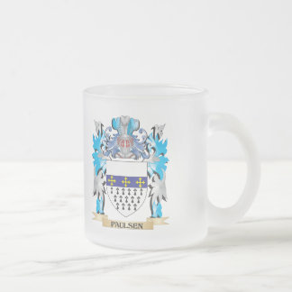 Paulsen Coat of Arms - Family Crest 10 Oz Frosted Glass Coffee Mug