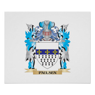 Paulsen Coat of Arms - Family Crest Posters