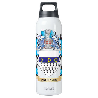 Paulsen Coat of Arms - Family Crest 16 Oz Insulated SIGG Thermos Water Bottle