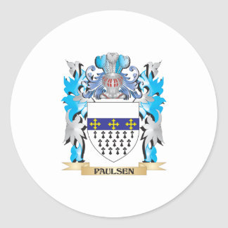 Paulsen Coat of Arms - Family Crest Classic Round Sticker