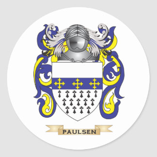 Paulsen Coat of Arms (Family Crest) Classic Round Sticker