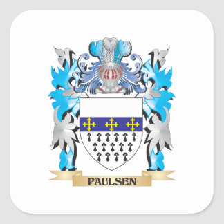 Paulsen Coat of Arms - Family Crest Square Sticker