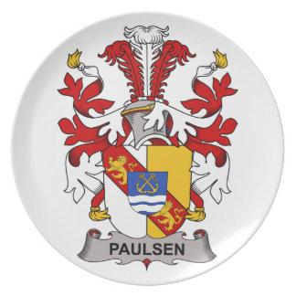 Paulsen Family Crest Dinner Plates