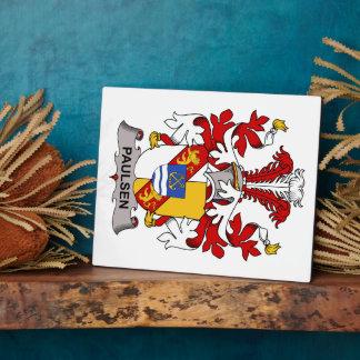 Paulsen Family Crest Display Plaque