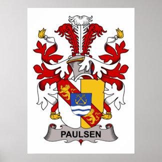 Paulsen Family Crest Poster