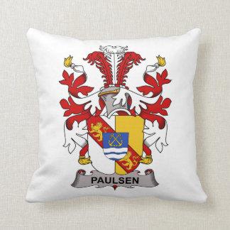 Paulsen Family Crest Throw Pillows