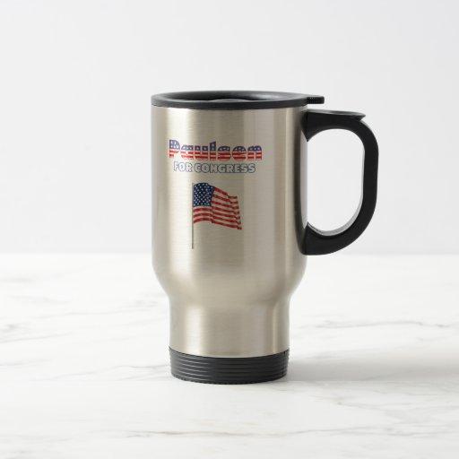 Paulsen for Congress Patriotic American Flag Mugs