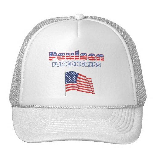 Paulsen para la bandera americana patriótica del c gorros