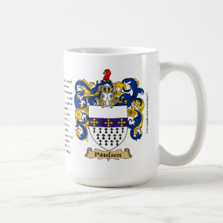 Paulsen, the Origin, the Meaning and the Crest Classic White Coffee Mug