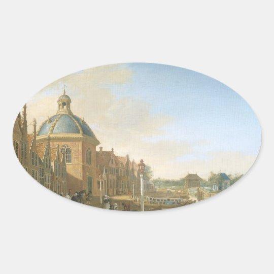 Paulus Constantij la Fargue Oval Sticker