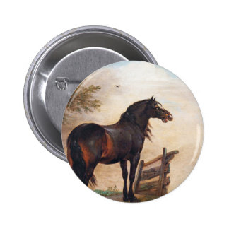 Paulus Potter Horses in a Field Pinback Button