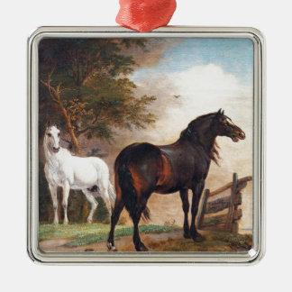 Paulus Potter Horses in a Field Metal Ornament