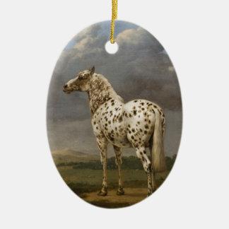 "Paulus Potter - The ""Piebald"" Horse. Vintage Image Ceramic Ornament"