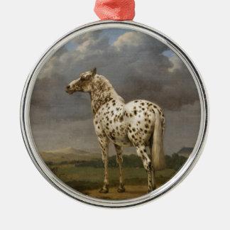 """Paulus Potter - The """"Piebald"""" Horse. Vintage Image Metal Ornament"""