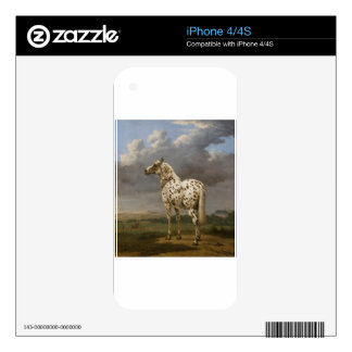 "Paulus Potter - The ""Piebald"" Horse. Vintage Image Skins For The iPhone 4"