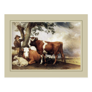 Paulus Potter,'Young Bull' 1647 Postcard