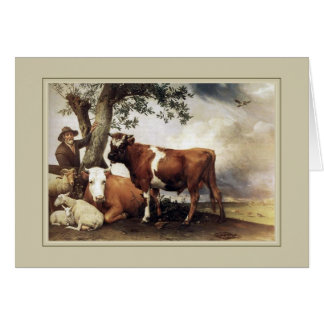 Paulus Potter,'Young Bull' Card