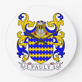 Pauly Coat of Arms Clock