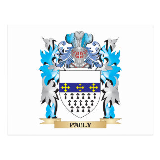 Pauly Coat of Arms - Family Crest Post Card