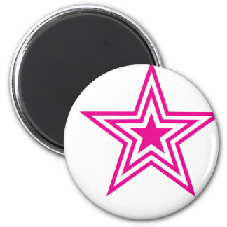Pauly Star-Pink 2 Inch Round Magnet