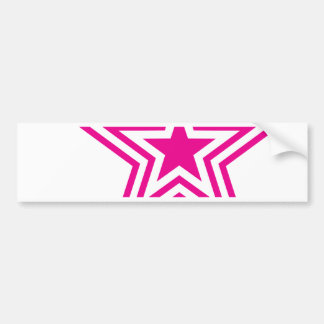 Pauly Star-Pink Bumper Sticker