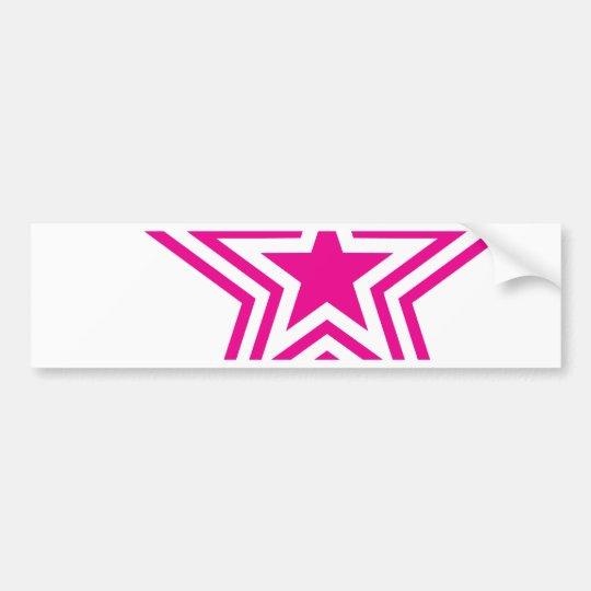 Pauly Star-Pink Bumper Sticker