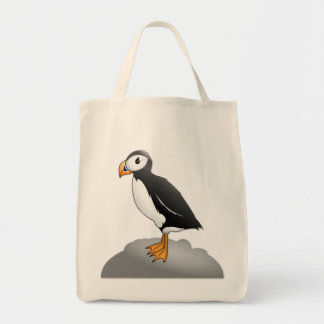 Pauly the Puffin Grocery Tote Canvas Bag