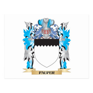 Pauper Coat of Arms - Family Crest Postcard
