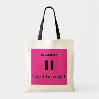Pausa para el sentido del friki del pensamiento de bolsa lienzo