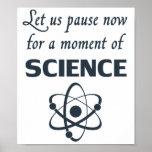 Pausa por un momento de ciencia poster