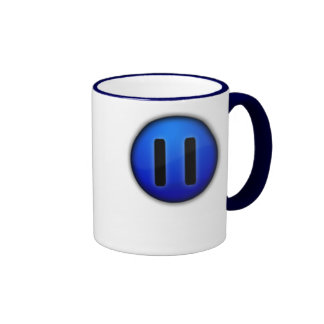pause, Pause LifeTo let life drag you down, but... Ringer Coffee Mug