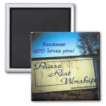 Pause rest worship magnets