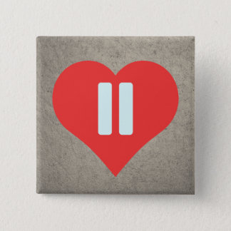 Pause Symbols Pictogram Pinback Button