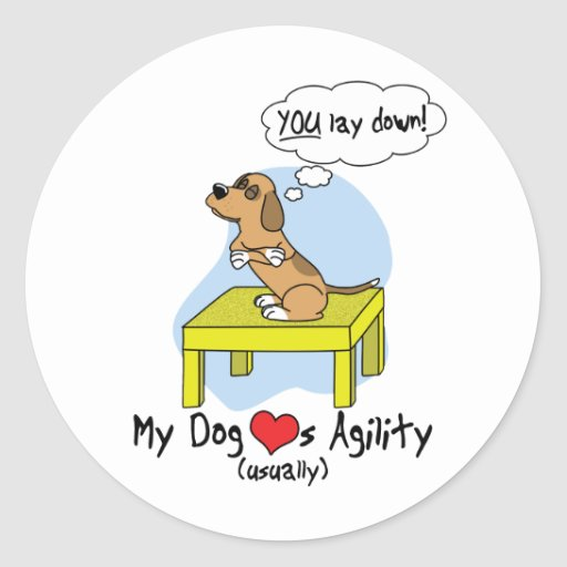 Pause Table Agility Humor Stickers