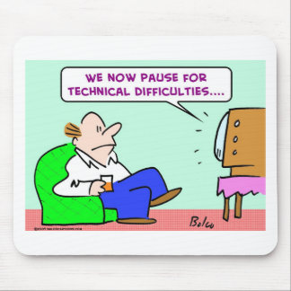 pause technical difficulties tv mouse pad